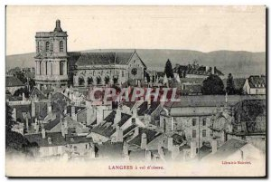 Old Postcard Langres Flight of bird