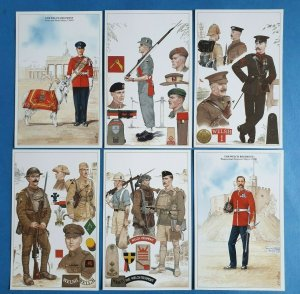 The British Army The Welsh Regiment Postcards Set of 6 by Geoff White Ltd 47Z