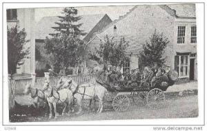 Original Old Band on Horse-drawn carriage, 10-20s