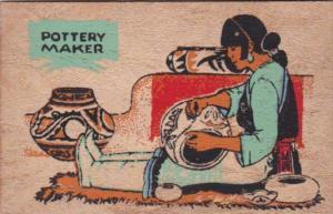 Pueblo Indian Pottery Maker Yucca Veneer Card