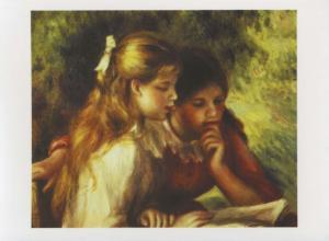 'La Lecture' Pierre August Renoir Art Unused Postcard D31