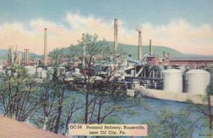 Pennsylvania Rouseville Pennzoil Refinery Near Oil City Curteich
