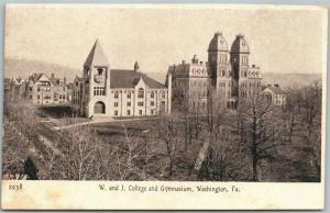 WASHINGTON PA W. & J. COLLEGE ANTIQUE POSTCARD