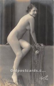 French Nude Postcard Corona Non Postcard Backing