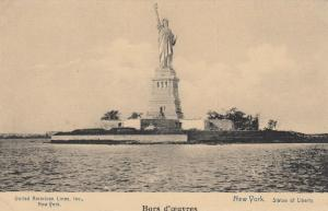 NEW YORK CITY, 1920s; Statue of Liberty, United American Lines Inc., NY Card