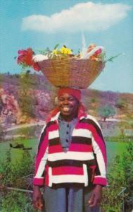 Jamaica Young Flower Vendor 1956