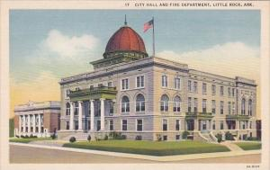 Arkansas Little Rock City Hall and Fire Department Curteich