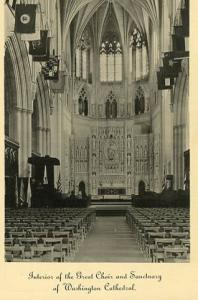 DC - Washington, Mt. St. Alban- Interior of the Great Choir & Sanctuary of th...