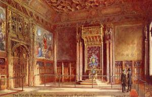 UK - England, London - The King's Robing Room , Houses of Parliament Interior...
