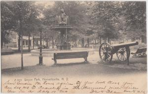 1906 NORNELLSVILLE New York NY Postcard UNION PARK Fountain Monument