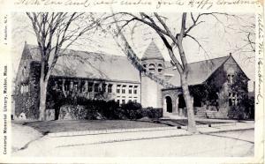 MA - Malden. Converse Memorial Library circa 1904