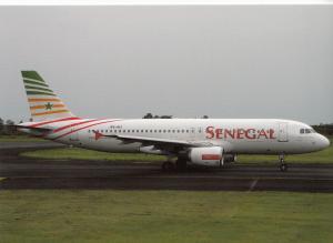 SENEGAL AIRLINES, A320-214, unused Postcard