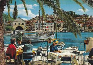 Yugoslavia Hvar Restaurant Patio Overlooking Harbor