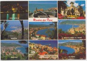 Riviera dei Fiori, Italy, multi view, used Postcard