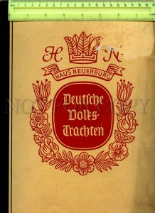 434864 Germany 1933 ALBUM COSTUMES Approximately 150 tobacco sticker cards