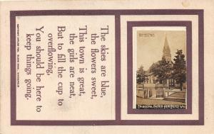 F36/ Newcastle Wyoming Postcard RPPC 1913 Episcopal Church