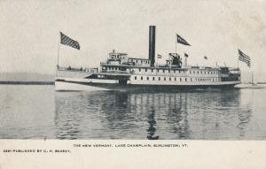 BURLINGTON , Vermont, 1901-07; The New Steamer Vermont, Lake Champlain