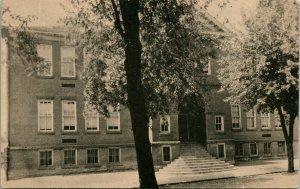 Vtg Postkarte Mifflintown, Pennsylvania - High School Gebäude - Ungebraucht