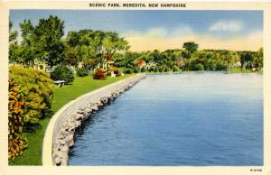 NH - Meredith. Scenic Park on Lake Winnipesaukee