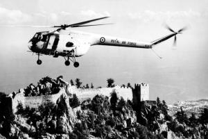 Postcard 1961 RAF Bristol Type 171 Sycamore Helicopter 103 Squadron, Cyprus K68