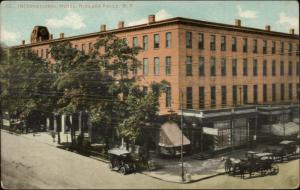 Niagara Falls NY Hotel & Street c1910 Postcard