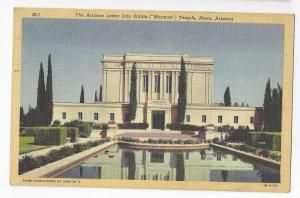 Mesa Arizona 1948 Latter Day Saints Mormon Temple Vintage Linen Postcard