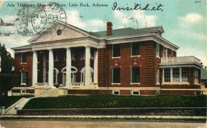 Little Rock, Arkansas, AR, Ada Thompson Memorial Home, 1910 Postcard c5056