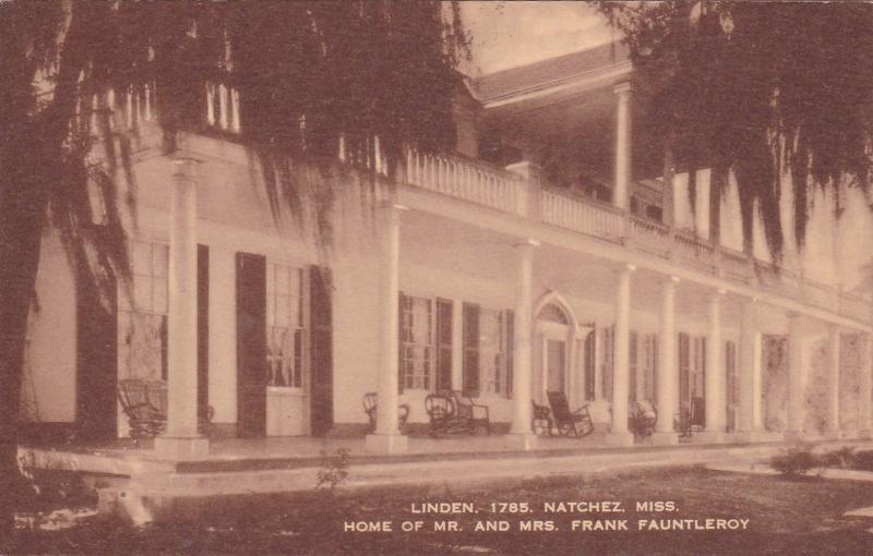 Home Of Mr. & Mrs. Frank Fauntleroy, Natchez, Mississippi 1900-10s