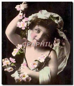 Fancy - Adorable Child - Old Postcard -