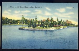 Beautiful Asbury Park, New Jersey/NJ Postcard, St. John's Island, Waterfront
