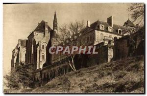 Postcard Abbey of Solesmes The prioress and new buildings