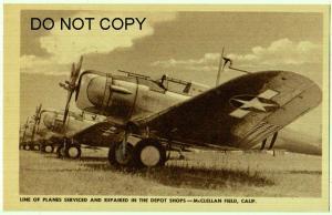 Row of Planes, McClellan Field Ca