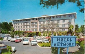 Guatemala Biltmore Hotel Reforma Boulevard Edifico Auto Vintage Cars