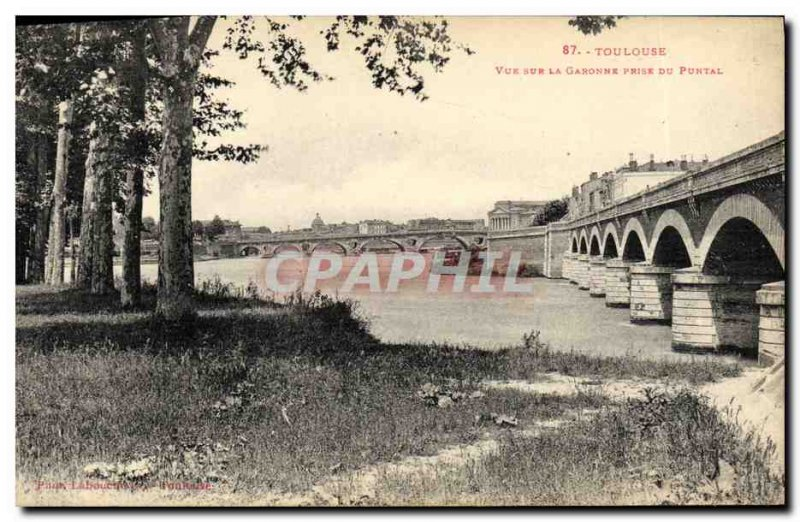 Old Postcard View On The Garonne Toulouse From Taking Puntal