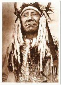 Two Moons Northern Cheyenne Chief Native American Modern Postcard