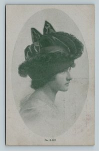 Millford Centre OH, Advertisement For Spring Millinery, Ohio Vintage Postcard