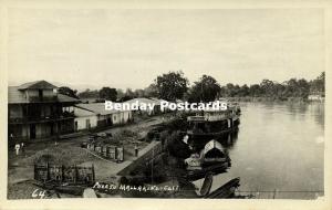 colombia, CALI, Valle del Cauca, Puerto Mallarini, Cauca River (1930s) RPPC