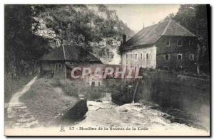 Postcard Old water mill Mills of the Source of the Loue