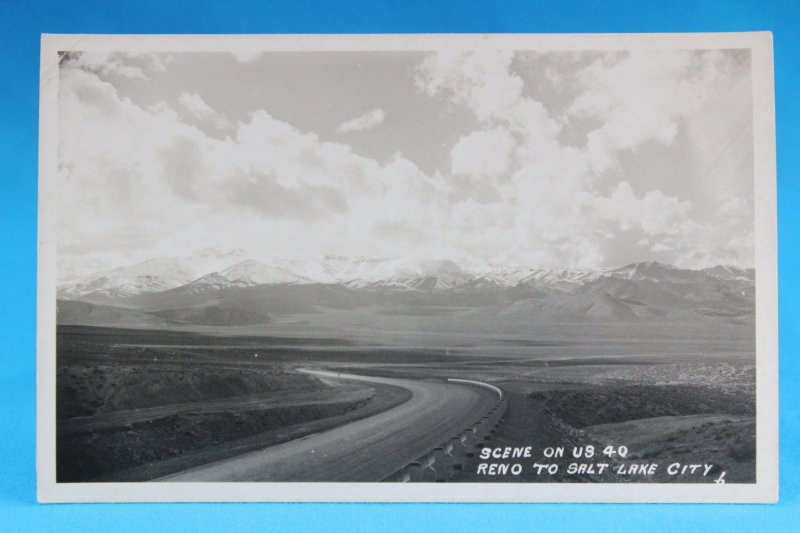L20028 Lincoln Highway, Scene on U.S. 40, Reno to Salt Lake City