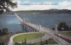 Lake Washington Floating Bridge Seattle Wasington 1956