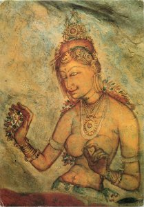 Sri Lanka Ceylon frescoes in Sigiriya postcard