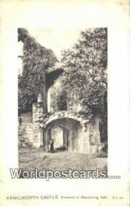 United Kingdom, UK, England, Great Britain Banqueting Hall Kenilworth Castle ...