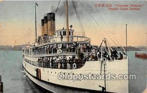 CPR SS Princess Victoria Pacific Coast Service Ship Postcard Post Card Pacifi...