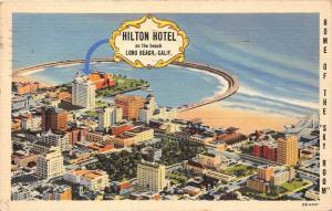 California  Long Beach   Aerial View Hilton Hotel