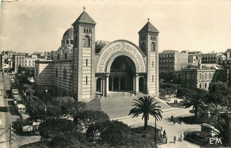 Oran Algeria Cathedral RPPC