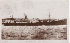 RP: NEW ZEALAND S. Co.'s S.S. RUAHINE , 1924