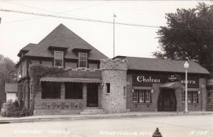 Wisconsin Monticello The Chateau Tavern Real Photo sk603