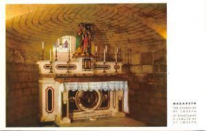 Israel Old Vintage Antique Post Card Nazareth The Church of St Joseph Unused