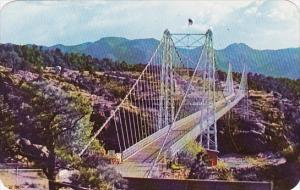 The Worlds Highest Bridge Spanning The Famed Royal Gorge At Canon City Colorado