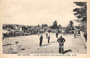 Old Vintage Lawn Bowling Postcard Post Card Le Jeu de boules du Club bouliste...